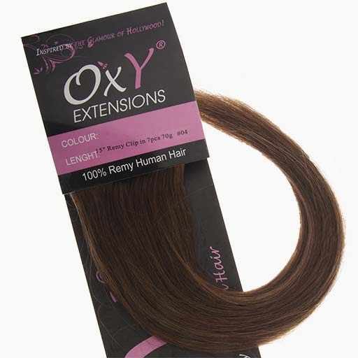 Clip in Extensions 38cm 70g 04 Chocolade Bruin-0