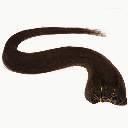 Clip in Extensions 38cm 70g 04 Chocolade Bruin-1150