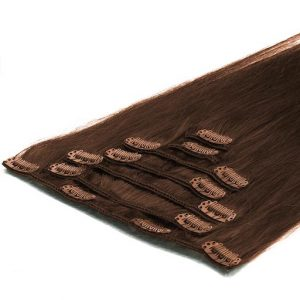 Clip in Extensions 50cm 70g 04 Chocolade Bruin-0
