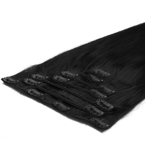 Clip in Extensions 50cm 70g 01 Donker Zwart-0