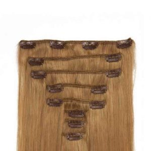 Clip in Extensions 60cm 160g Donker Blond 27-0
