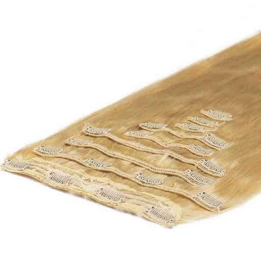 Clip In Extensions Deluxe 50cm 200g Goud Blond 22-0