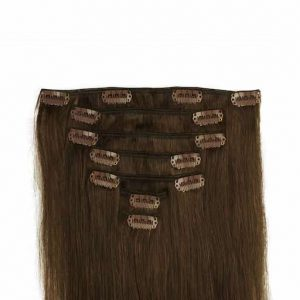 Clip in Extensions 60cm 160g 04 Chocolade Bruin-0